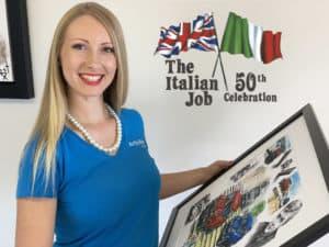 Italian Job 50 years with Art By Bex