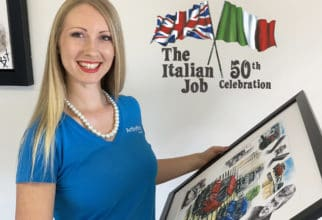 Italian Job 50 years with Art By Bex