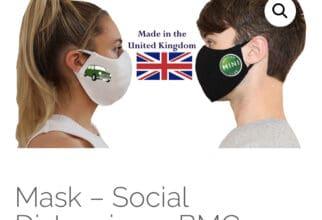 British Mini Club face mask